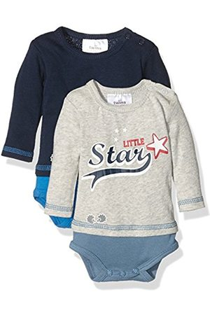 Twins Baby Boys Bodysuit Littel Star (Pack of 2) (marine 3011) 0-2 Months (Manufacturer size: 50)