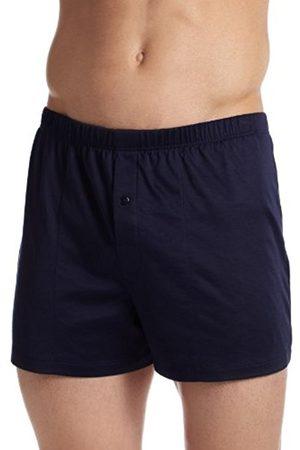 Hanro Men's Cotton Sporty Boxer Shorts, -Blau (Midnight Navy 0593)