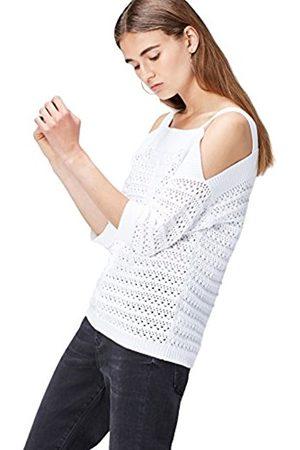 Women's Crochet Knit Cold Shoulder Top