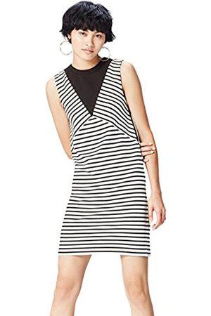 Women's Colour Block Stripe Tunic Dress