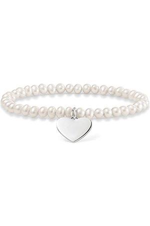 Thomas Sabo Women 925 Silver Charm Bracelet - LBA0046-082-14-L17.5