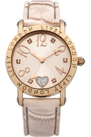 Lipsy Women's Quartz Watch with Dial Analogue Display and PU Strap LP150