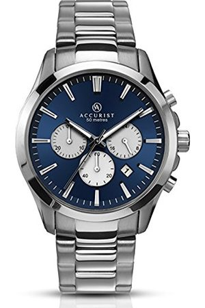 Accurist Men's Quartz Watch with Dial Chronograph Display and Stainless Steel Bracelet 7066