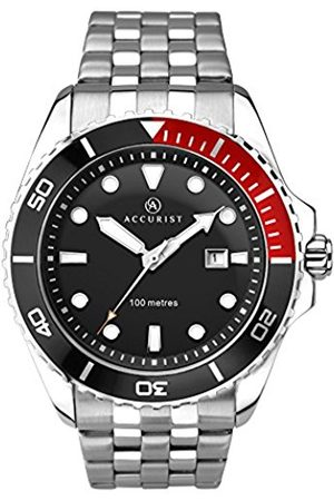 Accurist Men's Quartz Watch with / Quarter Dial Analogue Display and Silver Stainless Steel Bracelet 7200