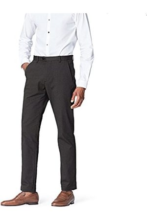 Men's Textured Slim Fit Formal Trousers, Blue