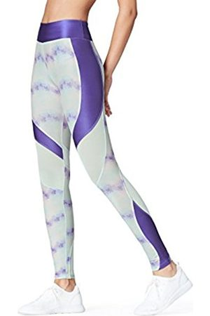 Women's Shine and Mesh Sports Tights