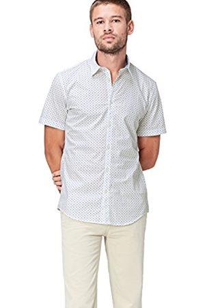 Men's Polka Dot Short Sleeve Slim Fit Shirt