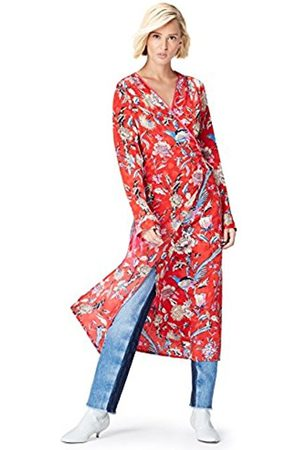 Women's Floral Kimono-Style Party Dress, Multicoloured Mpr 301