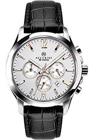 Accurist Men's Quartz Watch with Dial Chronograph Display and Leather Strap 7199