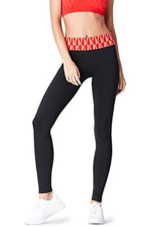 Women's Seamfree Geo Patterned Waistband Sports Tights