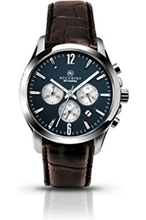 Accurist Men's Quartz Watch with Dial Chronograph Display and Leather Strap 7116