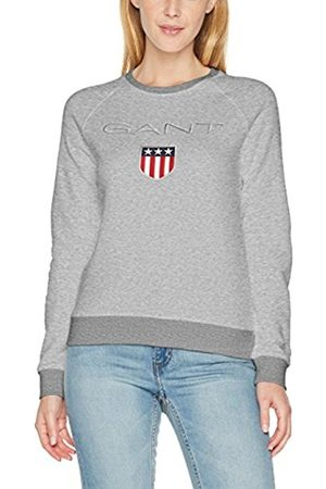 GANT Women's Shield Logo C-Neck Sweat Sweatshirt, ( Melange)