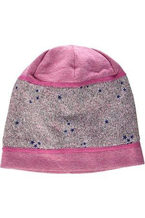 maximo Girl's Jersey Beanie Sterne Hat, Mehrfarbig (Zartrosa/Dunkelblau-Sterne 85)