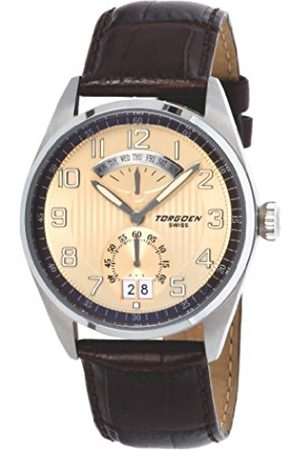 Torgoen Men's Aviator Quartz Analogue Watch T29102 With Leather Strap