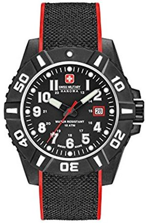 Swiss Military Mens Analogue Classic Quartz Watch with Silicone Strap 06-4309.17.007.04SM