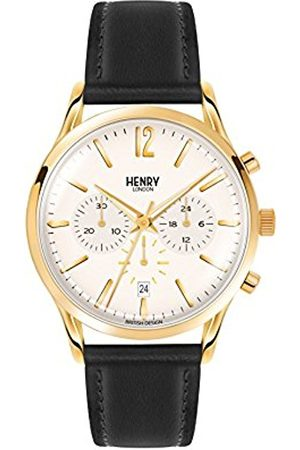 Henry Unisex Westminster Quartz Watch with Dial Chronograph Display and Leather Strap