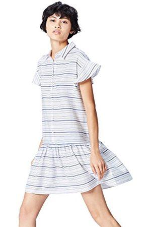 Women's Drop Hem Striped Shirt Dress