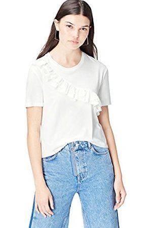 Women's Ruffle T-Shirt White16 (Manufacturer Size:X-Large)