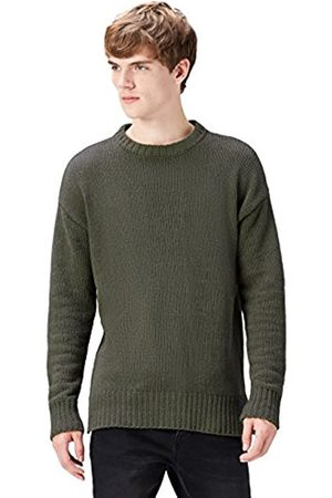 Men's Chunky Knitted Crew Neck Jumper
