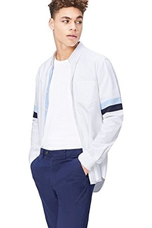 Men's Stripe Sleeve Cotton Oxford Slim Fit Shirt