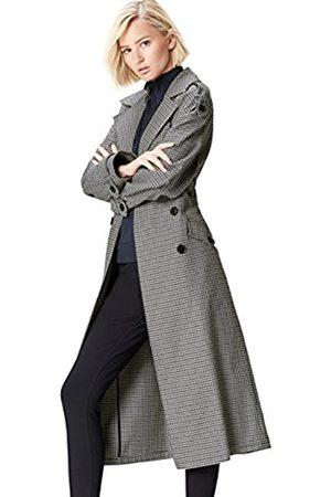 Women's Oversized Check Trench Coat