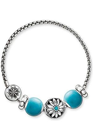 Thomas Sabo Damen-Armband Karma Beads mit Bead 925 Sterling Silber Länge 18 cm SET0363-495-17-L18