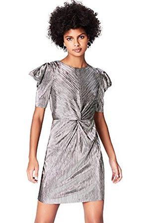 Women's Metalic Plisse Mini Party Dress