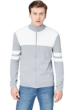 Men's Colour Block Knitted Jacket