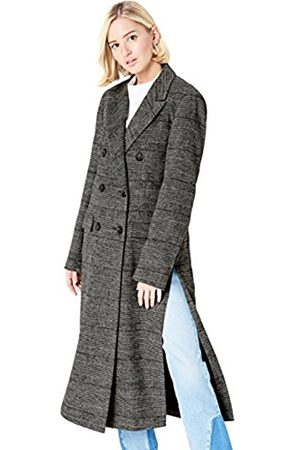 Women's Double Breasted Checked Coat (Check)