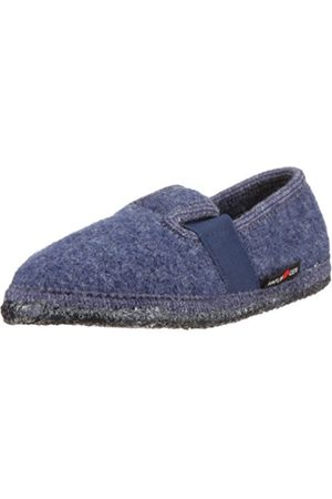 Haflinger Joschi Slippers Unisex-Child Blau (jeans 72) Size: 31