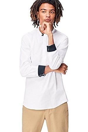 Men's Half Placket Grandad Collar Regular Fit Shirt