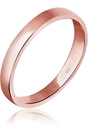 Elli Women's 925 Sterling Silver Rose Plated Basic Ring