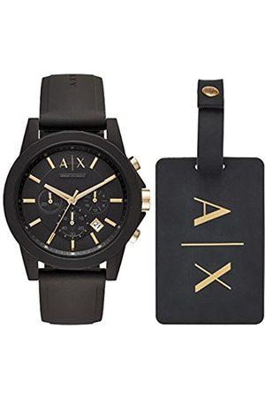 Armani Men's Chronograph Quartz Watch with Silicone Strap AX7105