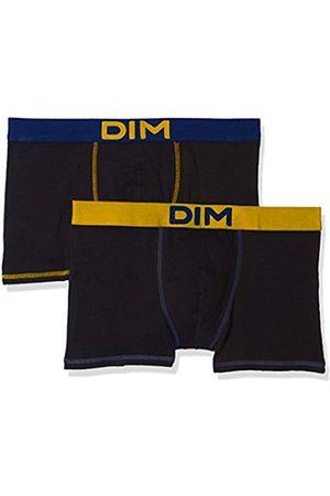 Dim Men's Mix and Colors Boxer X2 Hipsters, Noir (Noir Ct Jaune Safran/Noir Ct Bleu Marin)