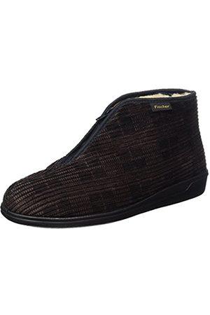 Fischer Men's Frank Hi-Top Slippers brown Size: 8.5 UK