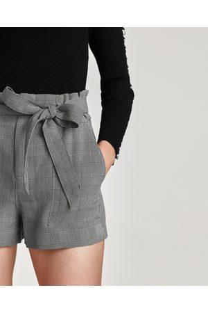 Zara PAPER BAG BERMUDA SHORTS