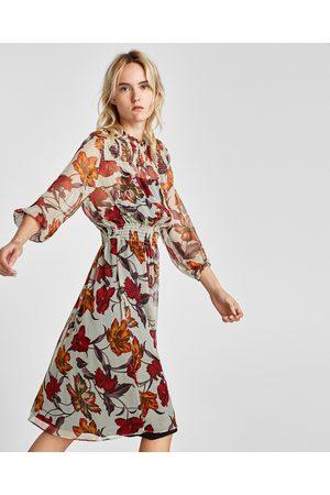 6a56398a Buy Zara Midi Dresses for Women Online | FASHIOLA.co.uk | Compare & buy