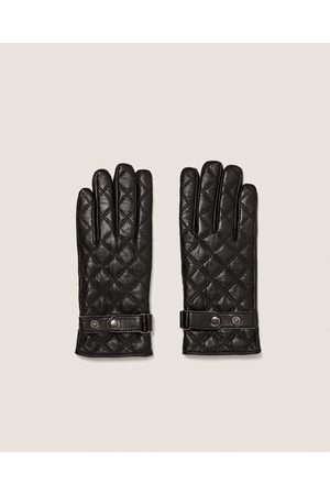 Zara QUILTED LEATHER GLOVES