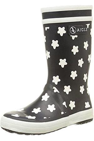 Aigle Lolly Pop Print, Unisex Kids' Rain Boots - (Marine/Etoile)