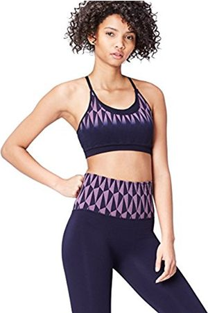 FIND Women's Seamfree Geo Patterned Double Layer Crop Top
