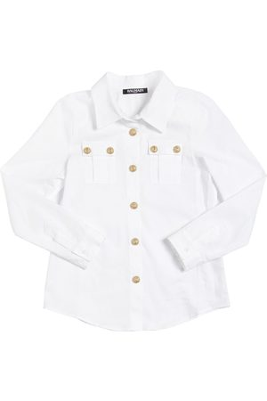 BALMAIN COTTON POPLIN SHIRT