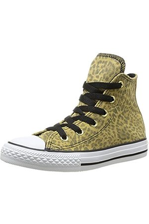 Converse Girls Chuck Taylor All Star Junior Animal HI Trainers 383960 91 Leopard 10.5 UK