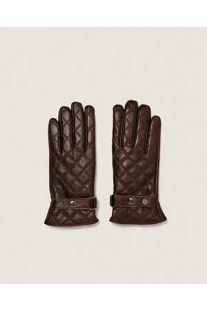 Zara QUILTED LEATHER GLOVES - Available in more colours