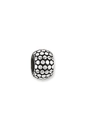 Thomas Sabo Unisex-Stopper for Necklace Bracelet Karma Beads 925 Sterling blackened Silicon KS0001-585-12