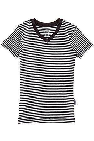 Claesen's CLN 118 Boys V Neck T Shirt SS Multicoloured (Navy/ Stripes)