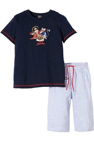 Schiesser Boys' Short SleevePyjama Set - Blau (dunkelblau) 4 Years