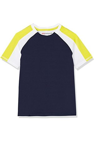 RED WAGON Boy's Colour Block Sports Shirt, (Navy/ /Citrine)