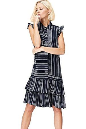 FIND Women's Ruffle Stripe Dress
