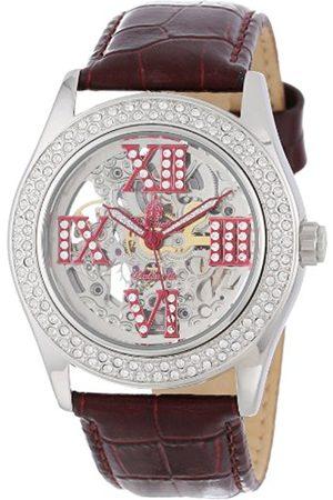 Burgmeister Ravenna Ladies Automatic Skeleton Watch BM140-100C With Swarovski Crystals And Leather Strap