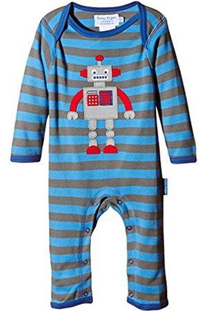 Toby Tiger Baby-Boys SLAGROB Striped Round Collar Long Sleeve Romper